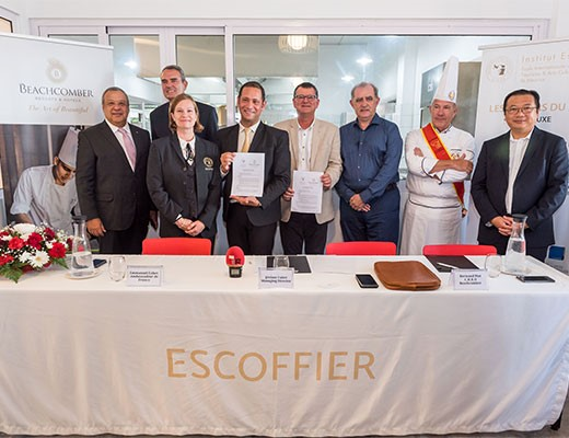 Beachcomber Resorts & Hotels and the Escoffier Institute signed partnership